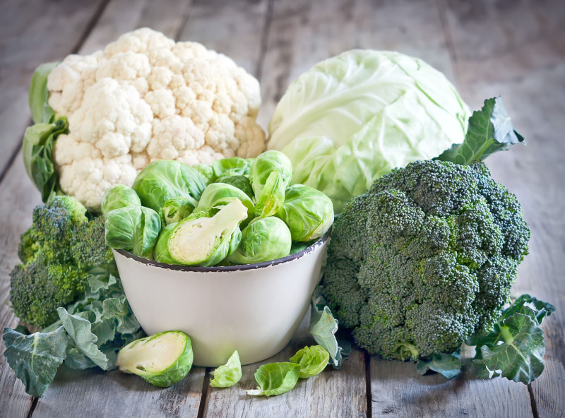 Assortment-cabbages-background