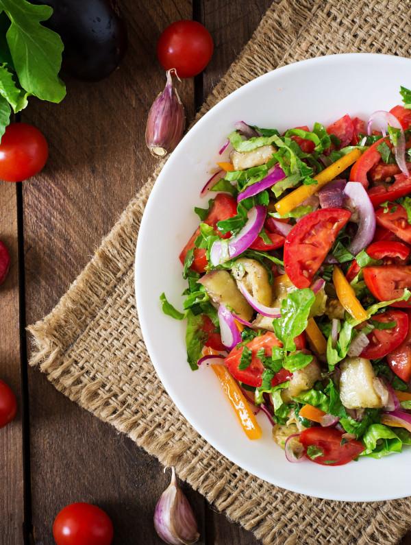 salade aubergine dinde