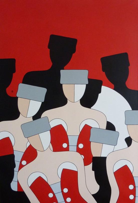 Sofitel Quiberon Catherine BERTAUD - Cavalcade - 90x130 cm