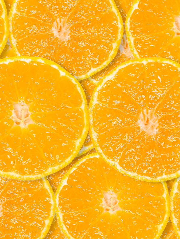 slice of fresh orange background