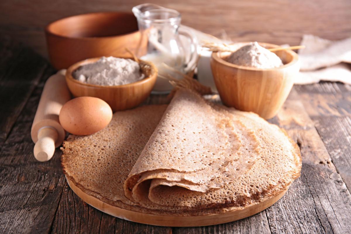 Breton buckwheat crepe