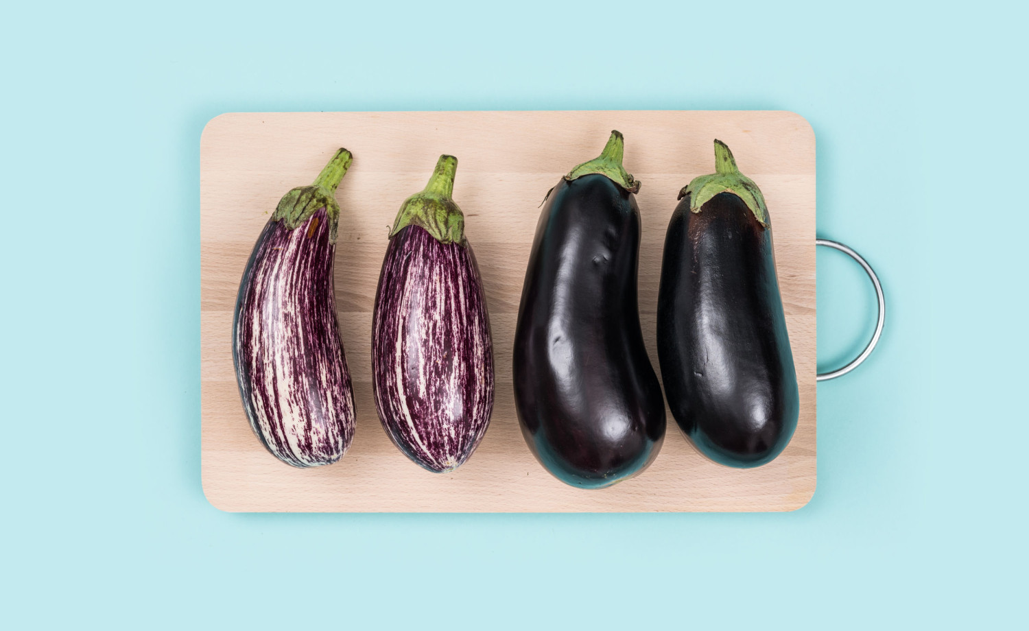 Fresh eggplants - aubergines