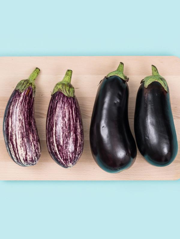 Fresh eggplants - aubergines
