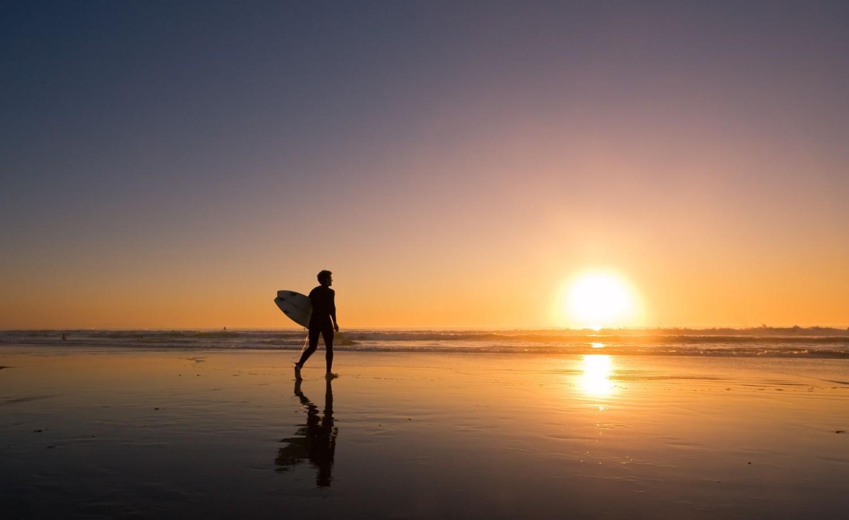 11928221 - sunset surfer